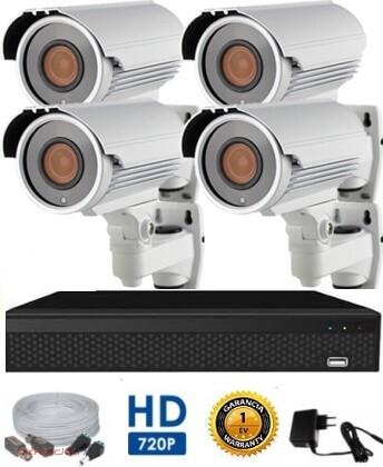 AHD-42 4 kamerás megfigyelő kamerarendszer 5X ZOOM HD 1280X720 felbontásban