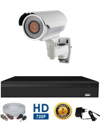 AHD-72 1 kamerás megfigyelő kamerarendszer 5X ZOOM HD felbontásban