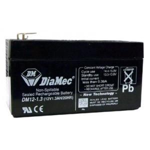 DIAMEC DM 12V 1.3 Ah zselés akkumulátor