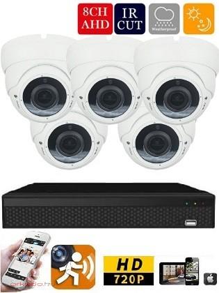 AHD-36 5 kamerás HD megfigyelő kamerarendszer 5X ZOOM