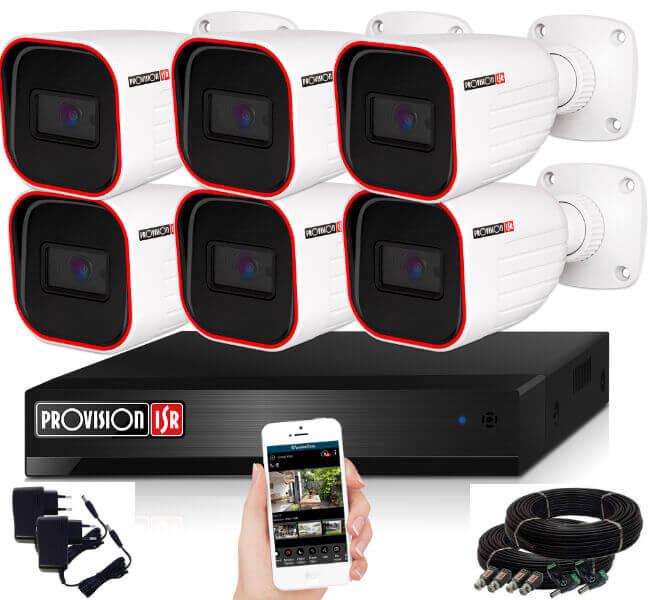 Provision AHD-23 6 kamerás megfigyelő kamerarendszer 2MP FULL HD