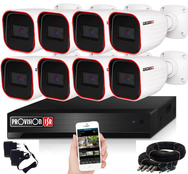 Provision AHD-23 8 kamerás megfigyelő kamerarendszer 2MP FULL HD