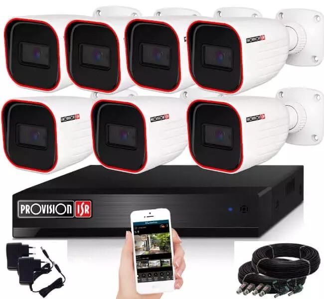 Provision AHD-36 7 kamerás kamerarendszer 2MP Full HD 1920X1080p