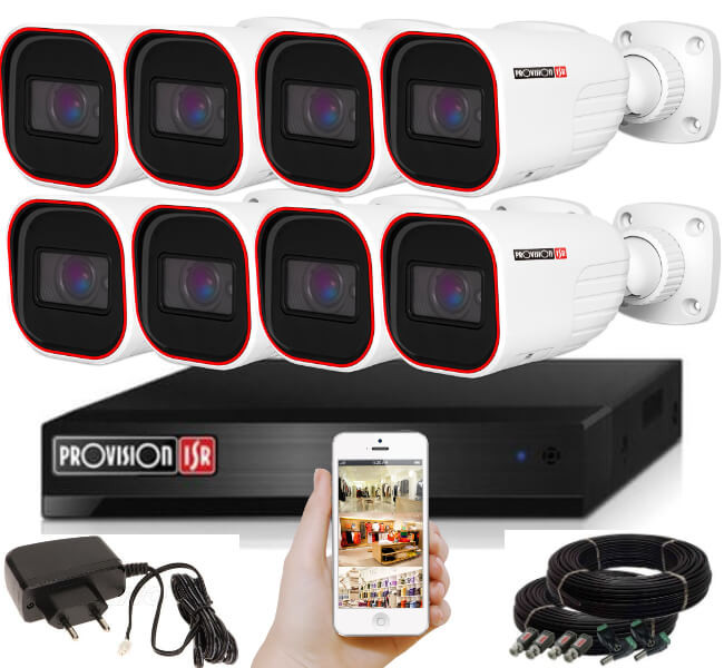 Provision AHD-36 8 kamerás kamerarendszer 2MP Full HD 1920X1080p